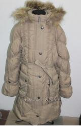 Пальто зимнее пух kiko 1312 р. 134-164 . Два цвета - беж и корич. Распродаж