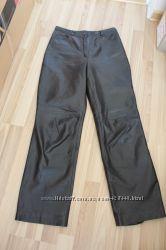 Фирменые коричневые брюки, натуральная кожа Marks & Spencer р. 10-38