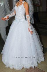 офигенное Свадебное платье бу