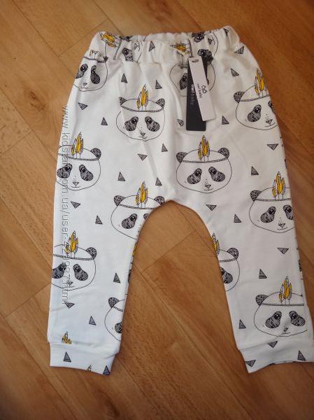 Трендовые штанишки и хомут с пандами 80-90см