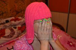 Продам новую крутую вязаную шапку в форме парика