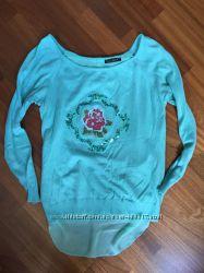 Модный бирюзовый свитшот для беременных
