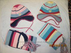 Комплекты шапка и шарф на флисе Sela, р. 48-50