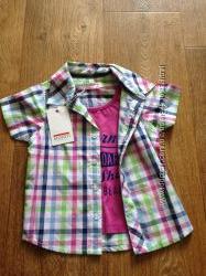 Модная рубашка с футболкой Minoti, 12-24мес