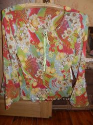 Блуза женская шелковая цветная