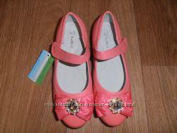Туфли для девочек нежно-коралловые ТМ Calorie наличие все-все рр. 32-37