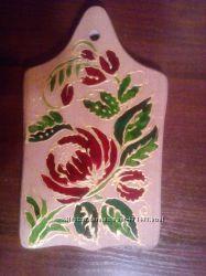 Разделочная деревянная доска - ручная роспись