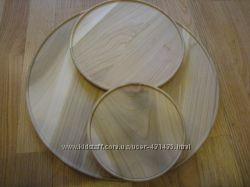 Деревянные тарелки  - заготовки для росписи та декупажа