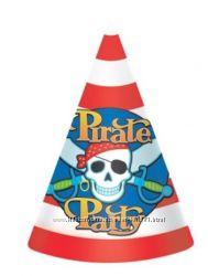 Колпачки шапочки, бабочка для Пиратской вечеринки