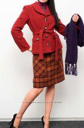 Укороченное шерстяное пальто от T. S. City, р. 48 замеры