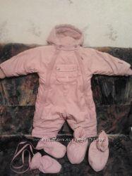 Комбинезон Coccodrillo Baby Girl 74 см с пинетками и рукавичками