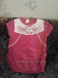 Платье и бодики и песочники бэмби с панамками 68-74
