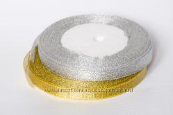 Лента декоративная Серебро Золото 9мм