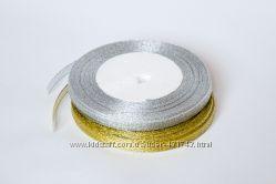 Лента декоративная Серебро Золото 6мм