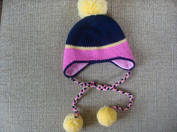Зимняя шапка ручной работы объем 50 см