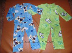 Махровые яркие теплые пижамы для двойни