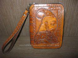 Продам кошелек-барсетку мужскую из натуральной кожи