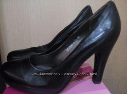 Классические черные туфли 26 см стелька