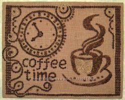 Панно из кофейных зерен - подарок и украшение в дом