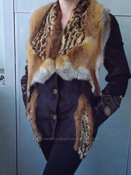 Весенний тренд  коричневая кожаная куртка