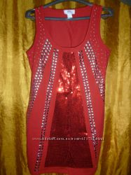 платье красное в пайетках BONPRIX  бонпри