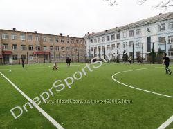 Строительство футболного поля, футбольное поле, мини-футбол