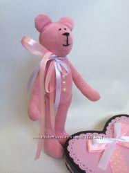 Вельветовый мишка, ручная работа оригинальный подарок, вельвет, девушке