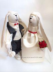 Жених и Невеста, пара заек, Молодежнны, свадьба семья оригинальній подарок