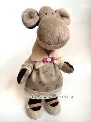 Обезьянка-символ 2016 года, под заказ оригинальный подарок игрушка мягкая