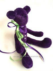 под заказ, Бархатный фиолетовый мишка