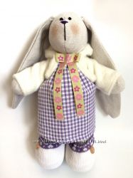 Зайка Кнопка тильда игрушка дочке детям подарок девушке коллеге