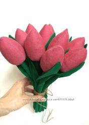 под заказ, Букет цветов, тюльпаны, подарок на день рождение