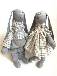 Пара заек Love is, семья, тильда, подарок, оригинальный, девушке. дочке