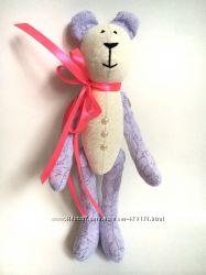 Медвежонок, ручная работа, тильда игрушка подарок медведь