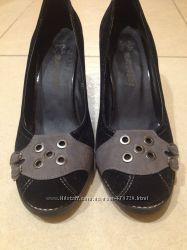 Удобные туфли из замши 37 размер