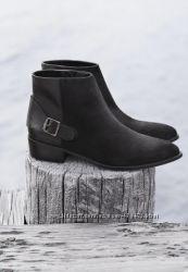 Ботинки MANGO натуральная замша кожа