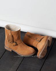 Ботинки Bershka р. 36-23, 2 см натуральная замша