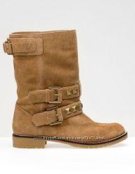 Ботинки Bershka р. 40-25, 6 см натуральная замша