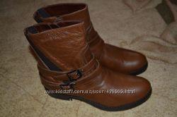 Красивые кожаные ботиночки р. 39 очень дешево из европы