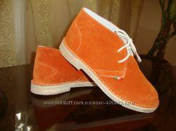 Качественные Итальянские ботиночки из натуральной замшы  р.  39