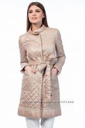 бежевое женское пальто BALIZZA размер 40 L-XL. оригинал