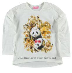реглан для девочки LC Waikiki белого цвета с пандами на груди