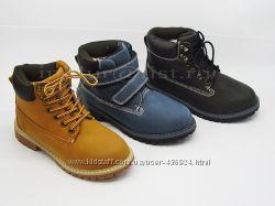 Модные рыжие зимние ботинки в наличии 34-38рр