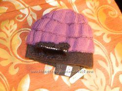 шапка двойная ангора шерсть со стразами и паетками мех норка новая