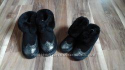 Новые замшевые угги для мамы и дочки