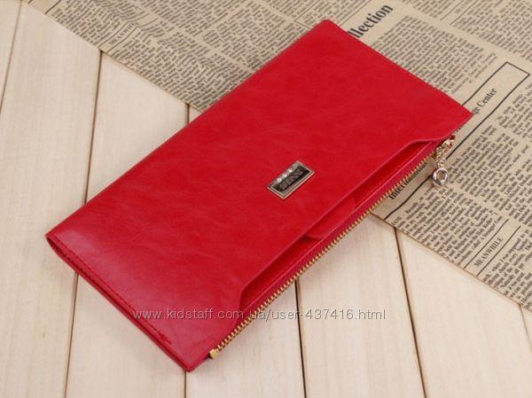 Женский кошелек-клатч BOGESI. Разные цвета