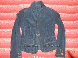 стильный фирменный пиджак вельветовый