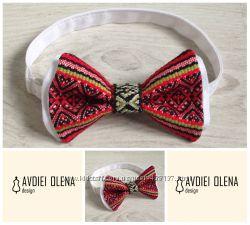 Галстук - бабочка с украинской вышивкой вышиванка