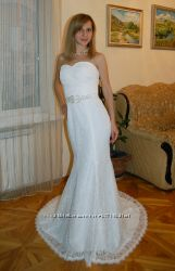 Продам новое ажурное свадебное платье