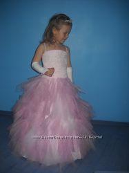 Пышное детское платье на 7-9 лет